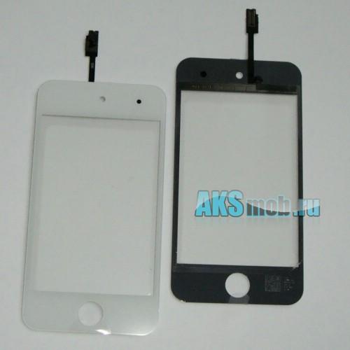 Тачскрин (Сенсорное стекло) белый для Apple iPod Touch 4G (A1367) поколение