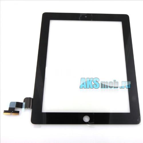 Тачскрин и стекло (черный) для Apple iPad 2 (A1395/A1396/A1397) - сенсорная панель - Оригинал