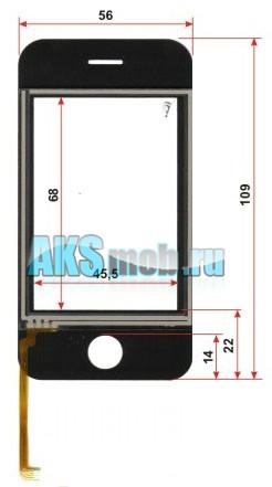 Тачскрин (Сенсорное стекло) для iPhone Cesim V800i Китай