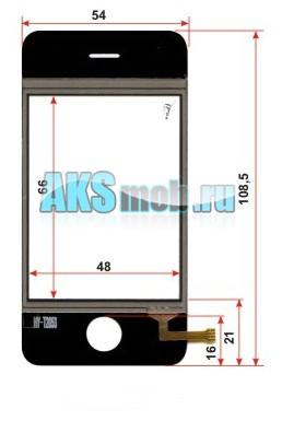 Тачскрин (Сенсорное стекло) iPhone i9++ Китай