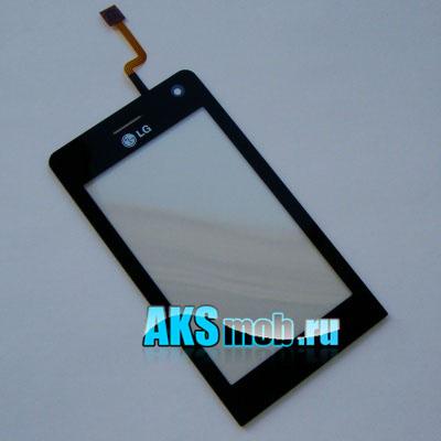 Тачскрин (Сенсорное стекло) LG KU990 / LG KE990 black Оригинал