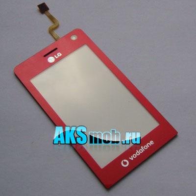 Тачскрин (Сенсорное стекло) LG KU990 / LG KE990 Pink Оригинал