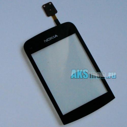 Тачскрин (Сенсорное стекло) для Nokia C2 Black Оригинал