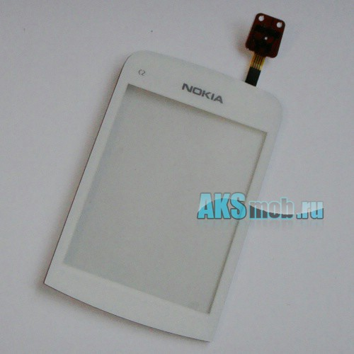 Тачскрин (Сенсорное стекло) для Nokia C2 White Оригинал