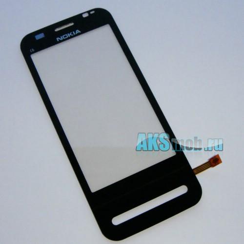 Тачскрин (Сенсорное стекло) для Nokia C6-00 черный