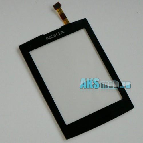 Тачскрин (Сенсорное стекло) для Nokia X3-02 Black