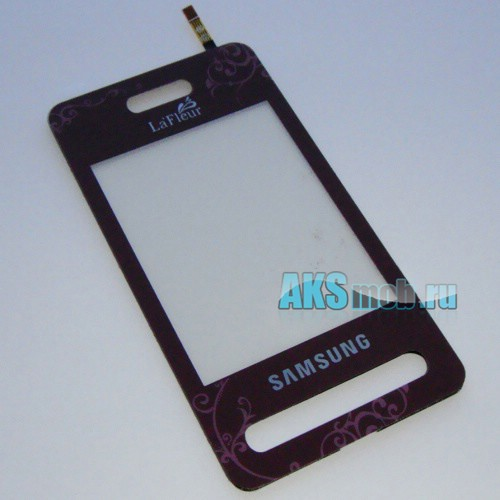 Тачскрин (Сенсорное стекло) для Samsung SGH-D980 (бордовый) (La Fleur)