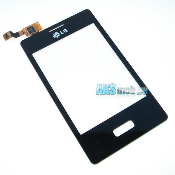Тачскрин (Сенсорное стекло) для LG E400 Optimus L3 - черный - touch screen