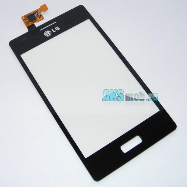 Тачскрин (Сенсорное стекло) для LG E612 Optimus L5 - touch screen черный