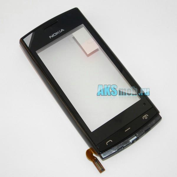 Тачскрин (Сенсорное стекло) для Nokia 500 с передней панелью и клавиатурой