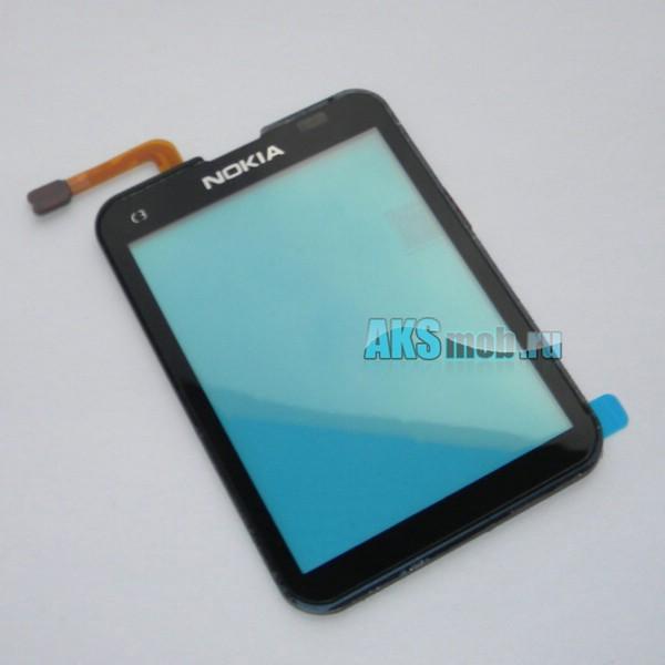 Тачскрин (Сенсорное стекло) для Nokia C3-01 - черный - Оригинал