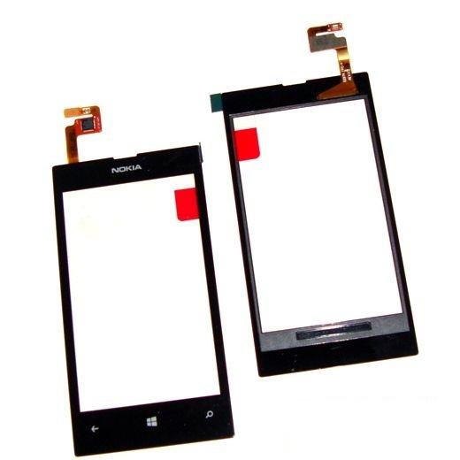 Тачскрин (Сенсорное стекло) для Nokia Lumia 520 - touch screen - черный