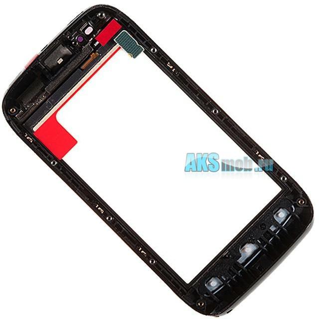 Тачскрин (Сенсорное стекло) для Nokia Lumia 710 с передней панелью и клавиатурой - черный