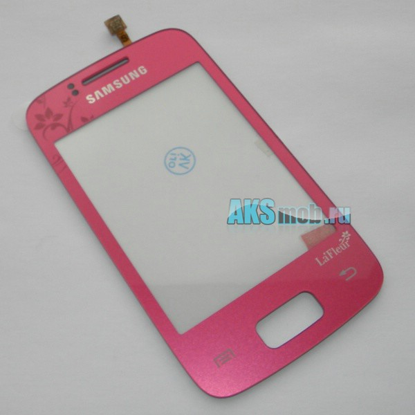 Тачскрин (Сенсорное стекло) для Samsung GT-S6102 Galaxy Y Duos - розовый LaFleur - Оригинал