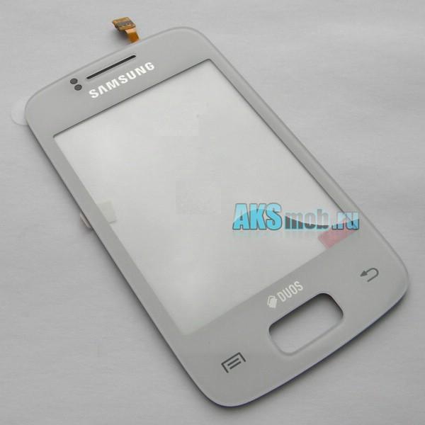 Тачскрин (Сенсорное стекло) для Samsung GT-S6102 Galaxy Y Duos - белый - Оригинал