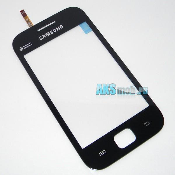 Тачскрин (Сенсорное стекло) для Samsung GT-S6802 Galaxy Ace Duos - черный - ОРИГИНАЛ