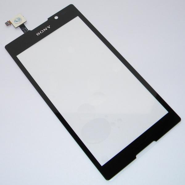 Тачскрин (сенсорное стекло) для Sony Xperia C C2305 - черный