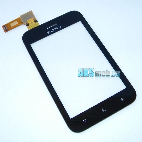 Тачскрин (сенсорное стекло) для Sony ST21i Xperia Tipo - черный