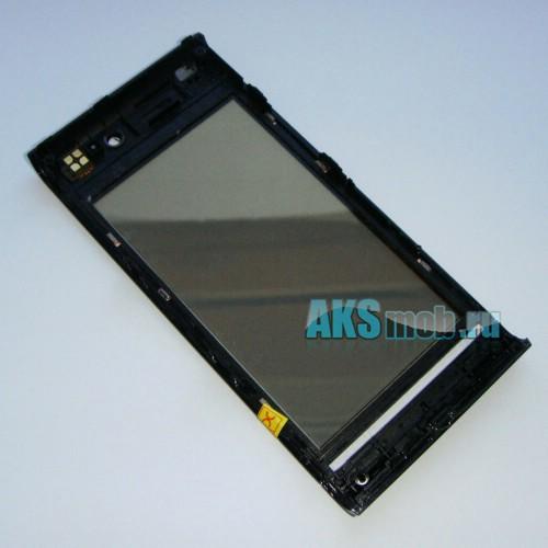 Тачскрин (Сенсорное стекло) для Sony Ericsson U1 Satio с передней панелью