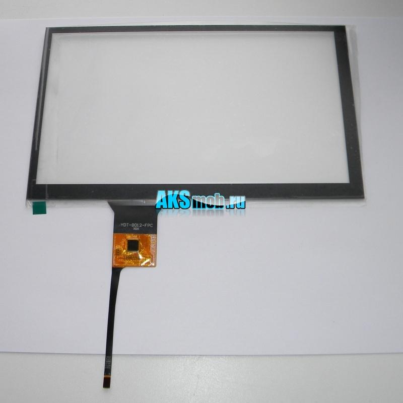 Тачскрин емкостный 191мм на 115мм для автомагнитолы шлейф 6pin - YDT-8012-FPC