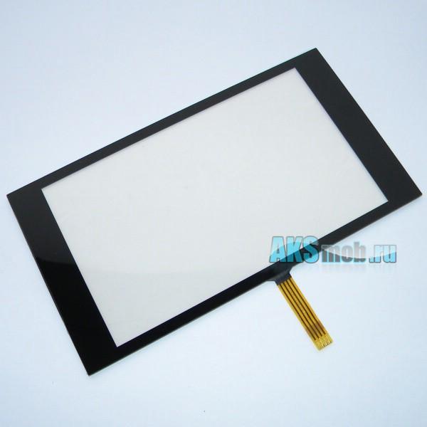 Тачскрин (Сенсорное стекло) 5-5,5 дюймов для GPS навигатора тип 13 с панелью (134*74мм диагональ 153мм)